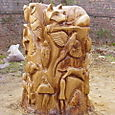 Dunham Park, chainsaw relief carving
