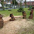 Three Bear Bench and an Owl