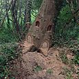 Two Fairy Doors in a Brittany woodland