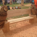 An Eagle Owl Bench