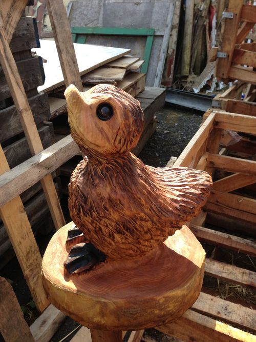 Little duckling  - carved by my wife Michele.
