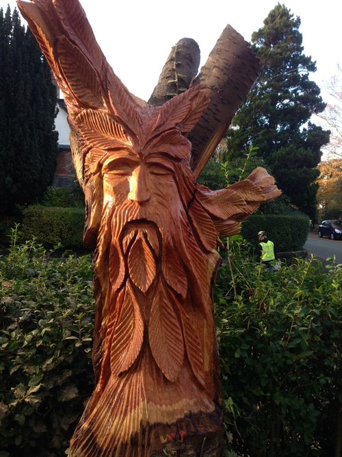 Green Man in a Cherry Tree stump