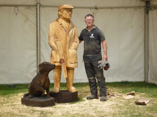 Gamekeeper and his Labrador