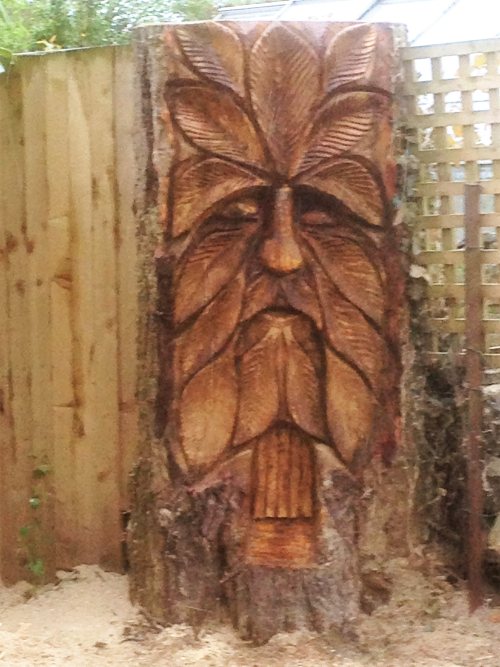 A Greenman face - and little doorway