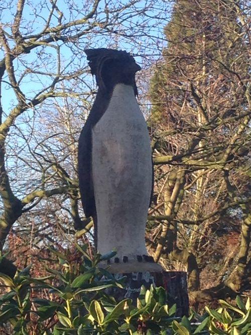 A King Penguin in oak