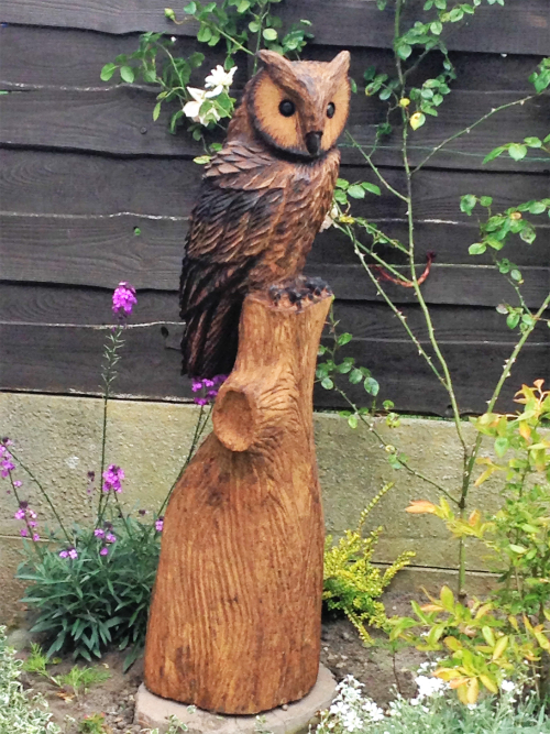 An Eagle Owl - or Wise Owl - in oak