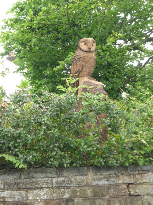 Stylised Tawny Owl Pepper Street, Lymm