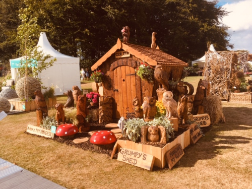 My stand at the RHS Show, Tatton Park, 2018 - with my brother Andy