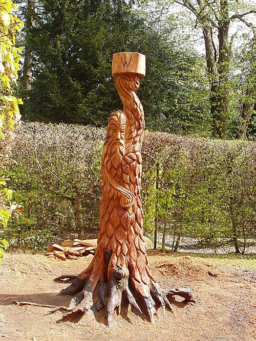 'Greenman', Tatton Park Maze, Cheshire.