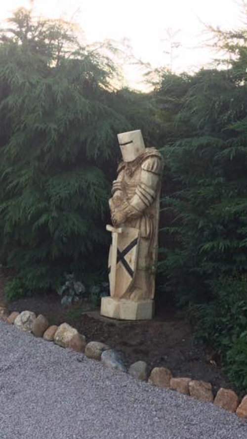 A Large Knight Guardian - over two metres tall